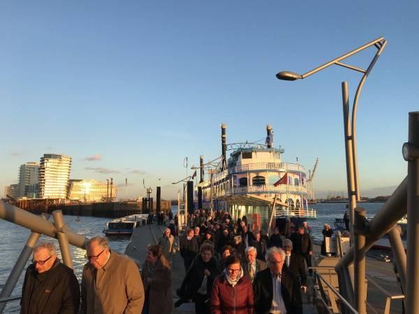 Ankunft mit dem Mississippi-Dampfer