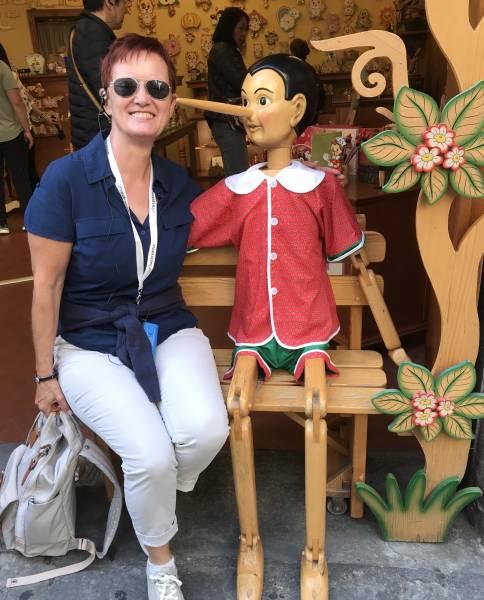 Begegnung mit Pinocchio, geboren in der Toscana
