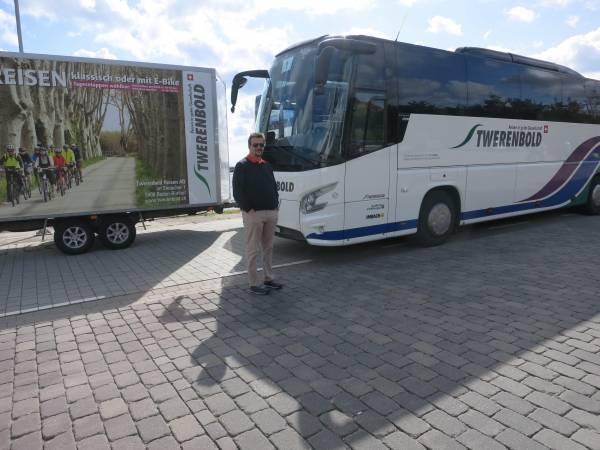 Der Twerenbold-Bus ist immer mit dabei